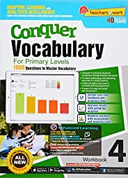 Conquer Vocabulary Workbook 4 for Primary Levels + Nuadu