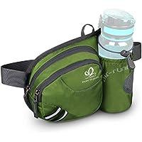 WATERFLY(ウォーターフライ) ウエストバッグ アウトドア 水筒ポーチ付き 旅行 登山 散歩などに適用 メンズ レディース