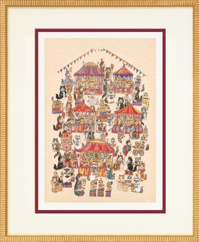 ダイアン エルソン ジグレー版画 テディーベア フェア 80-0011