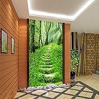 Bzbhart テレビの背景装飾画、壁用ステッカー大ビッグアートウォールステッカー壁画素朴な自然の花や入り口のソファの背景の壁紙をカスタマイズすることができます廊下のパス-120cmx100cm