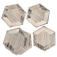 8本 使い捨て プレート お皿 紙皿 食器 ホームパーティー レストラン 3色2サイズ選べ - ローズゴールド, 9インチ