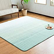 System K Carpet, Summer, Shijira Weave, Traditional Japanese Production, Green, 72.8 x 72.8 inches (185 x 185
