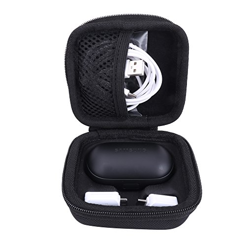 Samsung Gear Iconx (2018 Edition) Bluetoothヘッドセット 専用保護旅行収納キャリングケース (ブラック)
