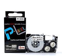 カシオ ネームランド用 互換 テープカートリッジ 18mm XR-18WE 白地黒文字