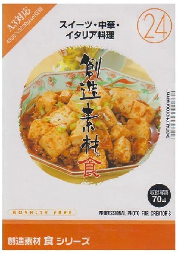 口ひげ履歴書和解する創造素材 食(24) スイーツ?中華?イタリア料理