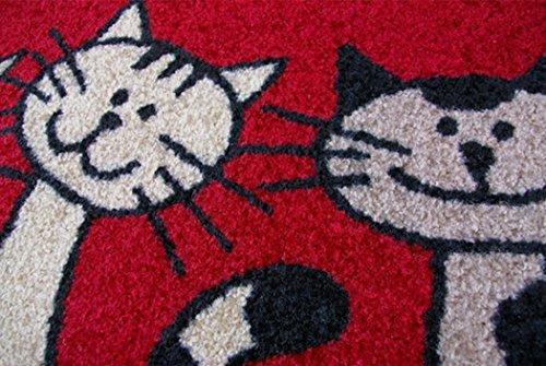 クリーンテックス ジャパン Three Cats 50×75cm デザインマット [6928]