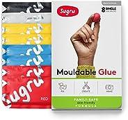 Sugru Moldable Glue - Family-Safe | Skin-Friendly Formula - Classic Colors 8-Pack