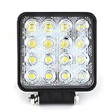 Safego 48W LED 作業灯ワークライト 広角タイプ 16連LED 車外灯 農業機械 ホワイト 6000K 12V-24V対応