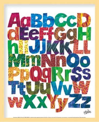 ミニポスター×フレームセット ERIC CARLE Alphabets ナチュラル FST-012