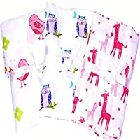 3 Muslin Cotton Baby Swaddle For Deeper Sleep. Multi Use Receiving, Swaddling Blanket, Wrap, Nursing, Stroller, Car Seat Cover. A Baby Shower, Christmas Gifts Like Aden And Anais Swaddle Blanket. by Pretty Baby
