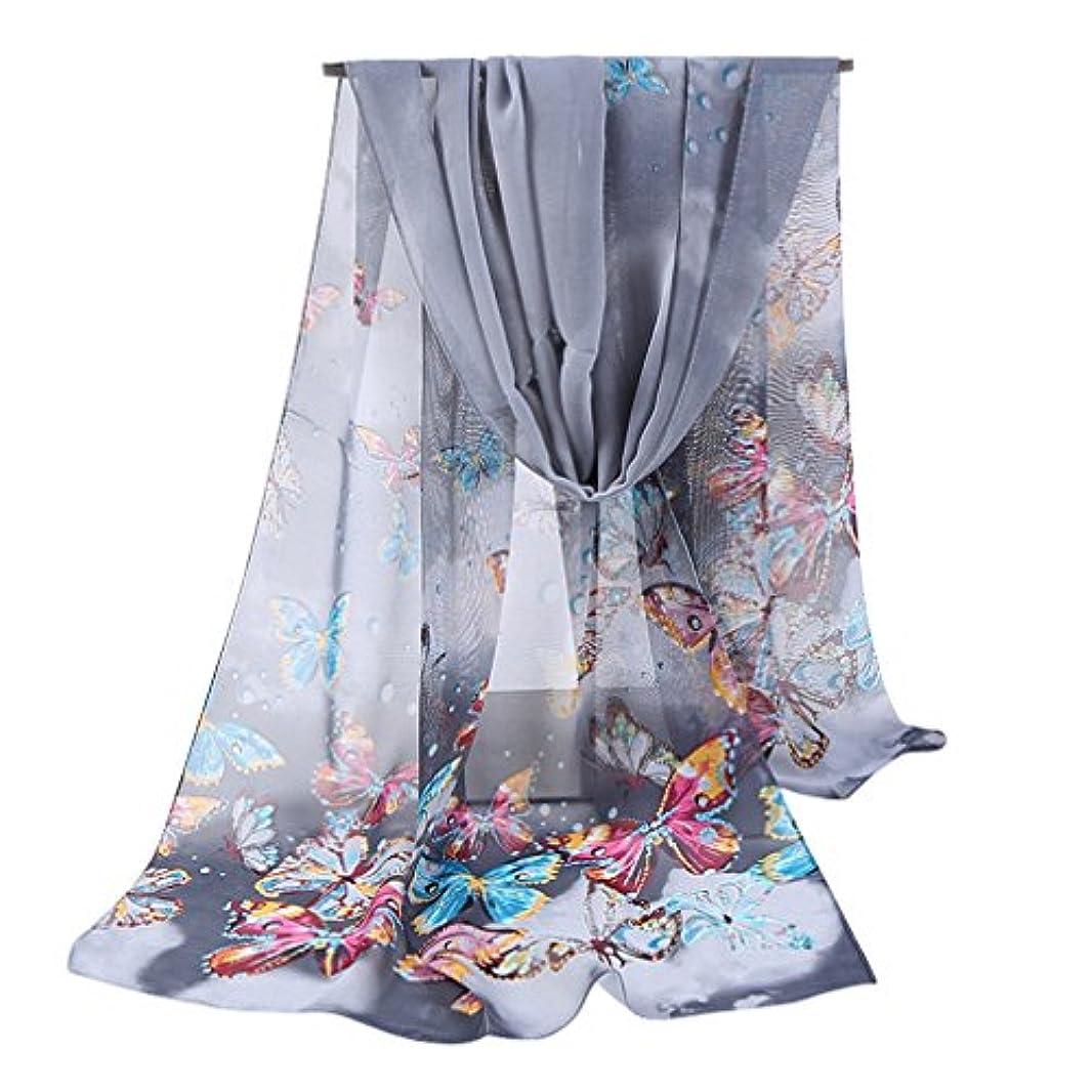 ライオネルグリーンストリートアミューズ粘液gerinlyレディーススカーフキュート蝶シアーシフォンスカーフ