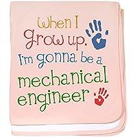 CafePress – 将来Mechanical Engineer – スーパーソフトベビー毛布、新生児おくるみ ピンク 07177627236832E