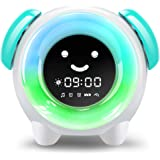 Alarm Clock for Kids, Sleep Training Clock with 7 Colors Night Light, 6 Alarm Rings, NAP Timer, Teach Children Time to Wake u