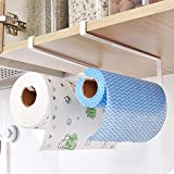 2 Packs Kitchen Cabinet Cupboard Under Shelf Storage Paper Towel Roll Holder Dispenser Napkins Storage Rack