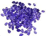 アメジストルース宝石1個4×6ミリメートル梨紫カボション宝石