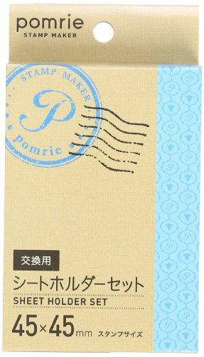 カシオ ラベルライター スタンプメーカー ポムリエ スタンプキット交換用×2 45×45mm STH-4545