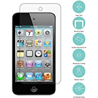 ipod touch 4 強化ガラスフィルム【Qosea】Apple ipod touch 4 液晶保護フィルム 硬度9H 指紋防止 飛散防止 超薄0.3mm 2.5D ラウンドエッジ加工 (ipod touch 4, 強化ガラスフィルム)