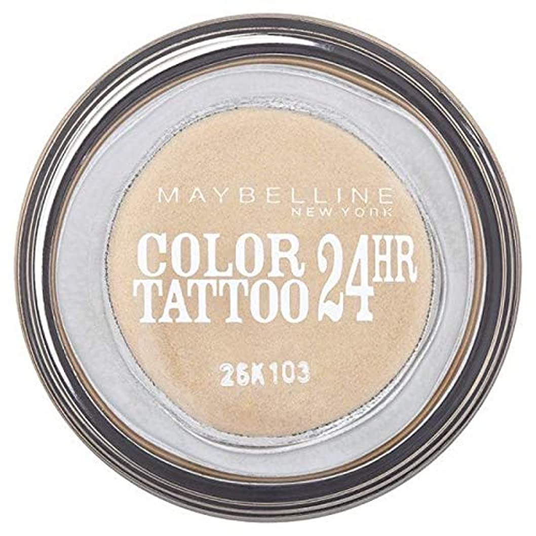 スクリーチ添加蒸留する[Maybelline ] シングルアイシャドウ05金24時間メイベリンカラータトゥー - Maybelline Color Tattoo 24Hr Single Eyeshadow 05 Gold [並行輸入品]
