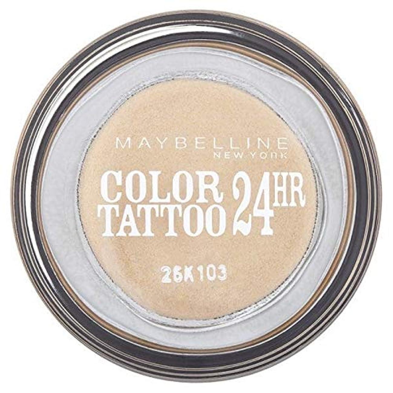 さまよう一見勝利した[Maybelline ] シングルアイシャドウ05金24時間メイベリンカラータトゥー - Maybelline Color Tattoo 24Hr Single Eyeshadow 05 Gold [並行輸入品]