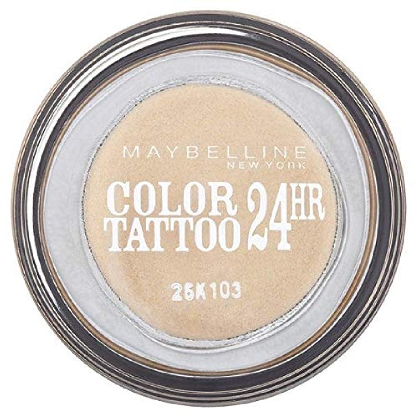 集中的な立ち寄る可能にする[Maybelline ] シングルアイシャドウ05金24時間メイベリンカラータトゥー - Maybelline Color Tattoo 24Hr Single Eyeshadow 05 Gold [並行輸入品]