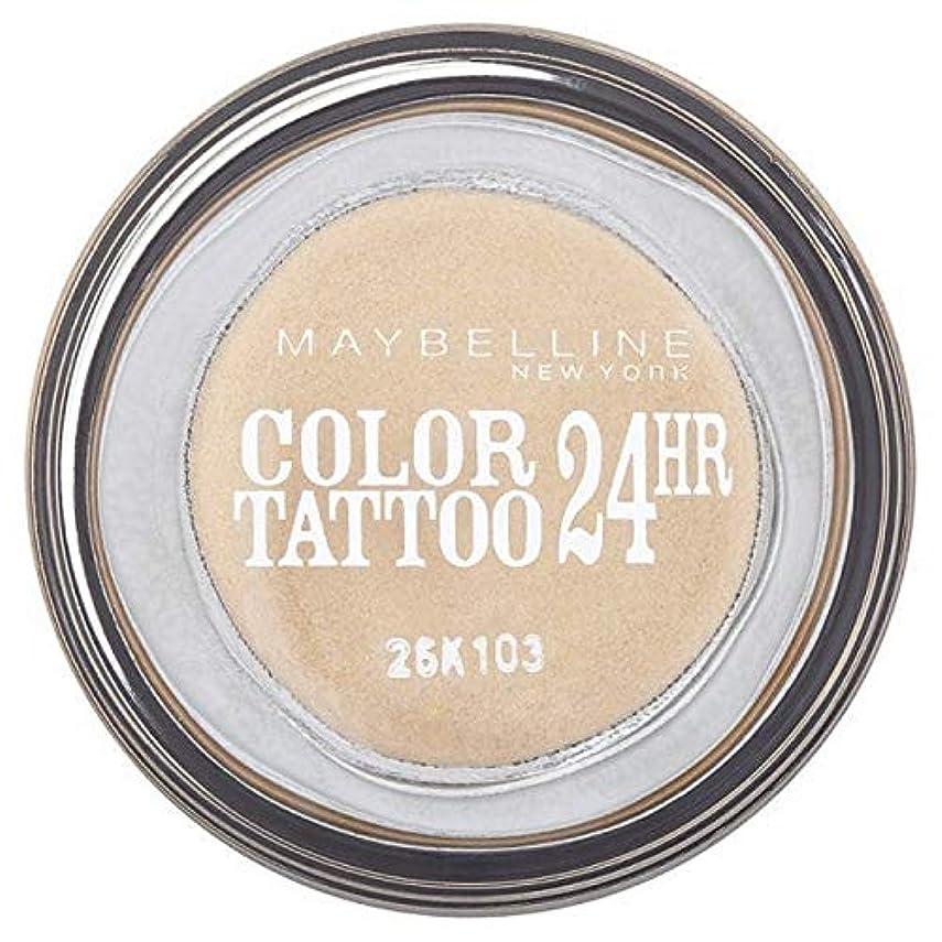 魅力メンテナンス半ば[Maybelline ] シングルアイシャドウ05金24時間メイベリンカラータトゥー - Maybelline Color Tattoo 24Hr Single Eyeshadow 05 Gold [並行輸入品]