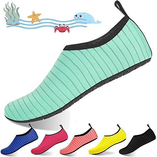 [해외]BIGU 워터 슈즈 키즈 주니어 서핑 요가 스킨 슈즈 마린 슈즈 스노클링 아쿠아 슈즈 남성 여성 비치 샌들 가볍고 통기성 수륙 양용/BIGU Water Shoes Kids Junior Surfing Yoga Skin Shoes Marine Shoes Snorkeling Aqua Shoes Men`s Women`s Beach S...