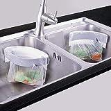三角コーナー 開閉可能生ゴミ袋ホルダー キッチンシンクを広く使える さんかくコーナー いらず 省スペース 水切り袋ホルダー ポリ袋エコスタンド