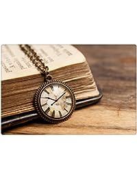 小さなヴィンテージ時計ペンダント、真鍮ペンダント、ガラスドームペンダント、アンティークブロンズペンダント、アンティーク真鍮のネックレス、ヴィンテージ時計のネックレス