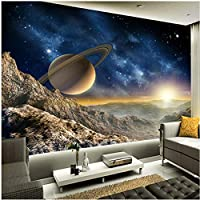 Xbwy 壁画の壁紙3Dステレオプラネットムーン壁画レストランクラブKtvバー-250X175Cm