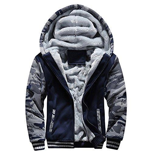コート メンズ Hodareyメンズ ジャケットトップス パーカー コートダウンジャケットメンズM-4XL冬暖かいフリースフードジッパーセータージャケットアウトコートコート 長袖 通勤 普段着 上着 プレゼント コート防風 格好いい#37