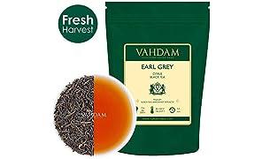 Vahdam Teas アールグレイ茶の葉 150 カップ 100%ベルガモット自然抽出物