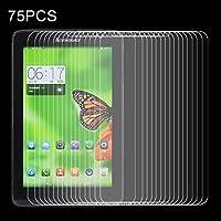 GzPuluz 液晶保護フィルム スクリーンプロテクター 防爆 75 PCS Lenovo A5500 / A8-50用 0.4mm 9H 表面硬度2.5D防爆型強化ガラスフィルム