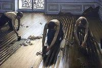 手描き-キャンバスの油絵 - Floor Planers Gustave Caillebotte 芸術 作品 洋画 ウォールアートデコレーション -サイズ04