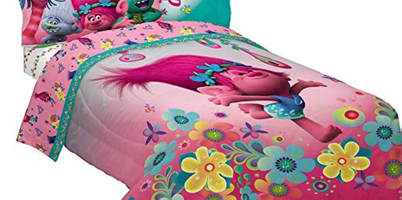 [ドリームワークス]Dreamworks Trolls Life Comforter Trolls Life Reversible Twin/Full Comforter ML7388 [並行輸入品]