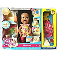 輸入ベビーアライブ赤ちゃんおままごと Baby Alive- Super Snacks- Snackin' Sara with Bonus Pack- African American [並行輸入品]