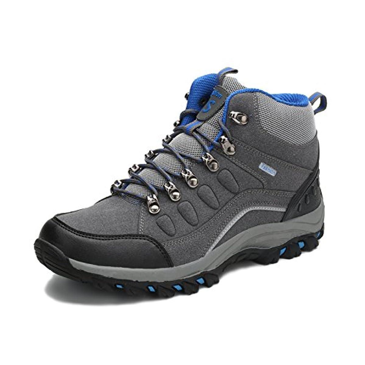人工カウントアップ侮辱[WARRIOR] Women and Men's Hiking boots メンズ ハイキングシューズ レディース トレッキングブーツ ウォーキング 防滑 登山靴