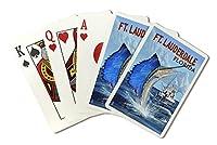 Fort Lauderdale、フロリダ州–Sailfishシーン( Playingカードデッキ–52カードPokerサイズwithジョーカー)