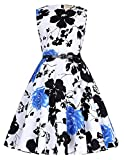 ガールズドレス ヴィンテージ 花柄 Aライン ベルト付き ノースリーブ ワンピース 10#色 120