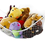 Sports Equipment Best Deals - ilovebaby Toys Storage Hammock, Organizer for Stuffed Animals, Toys, Sport Equipment, High Quality Storage Net, XL Size White 70.9 x 47.2 [並行輸入品]