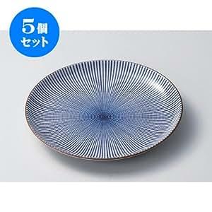 5個セット 組皿(大) 千段十草8.0皿 [25.2 x 3cm] 和食器 和皿 料亭 旅館 業務用