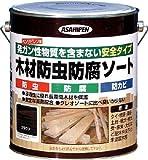アサヒペン 木材防虫防腐ソート2.5L ブラウン 4450523 530912
