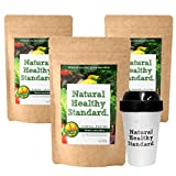 Natural Healthy Standard ミネラル酵素グリーンスムージー マンゴー味 200g x3set + Original Shaker x1