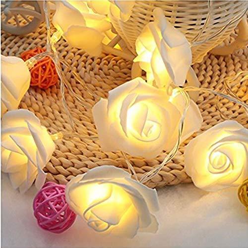 ligangamイルミネーションLED ライトストリングライト 20球 2m バラ 電飾 雰囲気作り 屋内屋外 ホームパーティー/バー/レストラン/祝日/結婚式/パーティデコレーション/庭園/ガーデン 装飾 クリスマス電池必要(ウォームカラー)