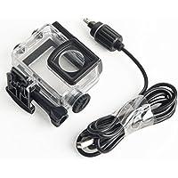 SJCAM正規品 ウェアラブルカメラ汎用式 オートバイ用 防水ハウジングケース 常時給電充電ケーブル同梱 バイク/車アクセサリー 対応機種:SJCAM SJ6 Legend SJ6 Air