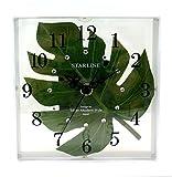 ハワイアン 雑貨/インテリア/ハワイ 雑貨 ハワイアン モンステラ時計(置き掛け兼用/ホワイト) 【ハワイ】【お土産】