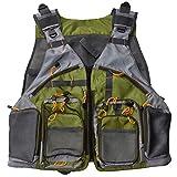 1stモール フィッシング ベスト 防水 通気性 メッシュ 大容量 ポケット サイドベルト 調整可能 釣り 海 川 浮き ST-BESTVEST