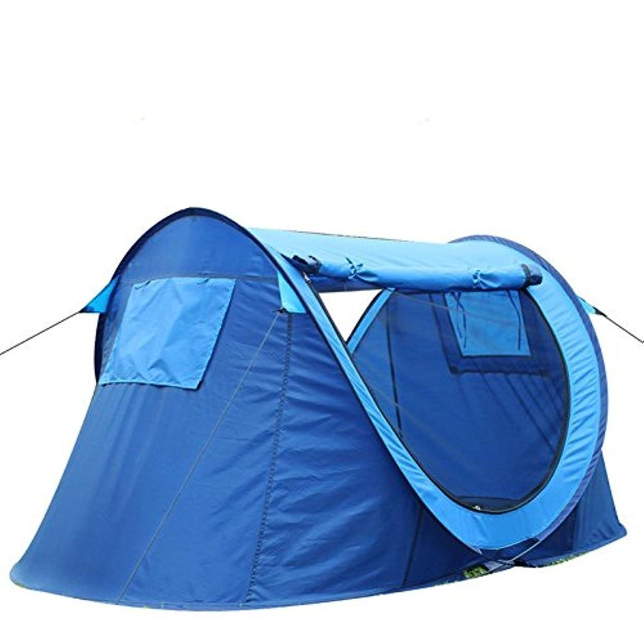 エラー引数あるOpliy 2-3人用ビーチキャンプ用テント、自動テント、釣り用テント、日除け用テント、強力な換気、広いスペース、蚊取りおよび昆虫 品質保証 (Color : ブルー)