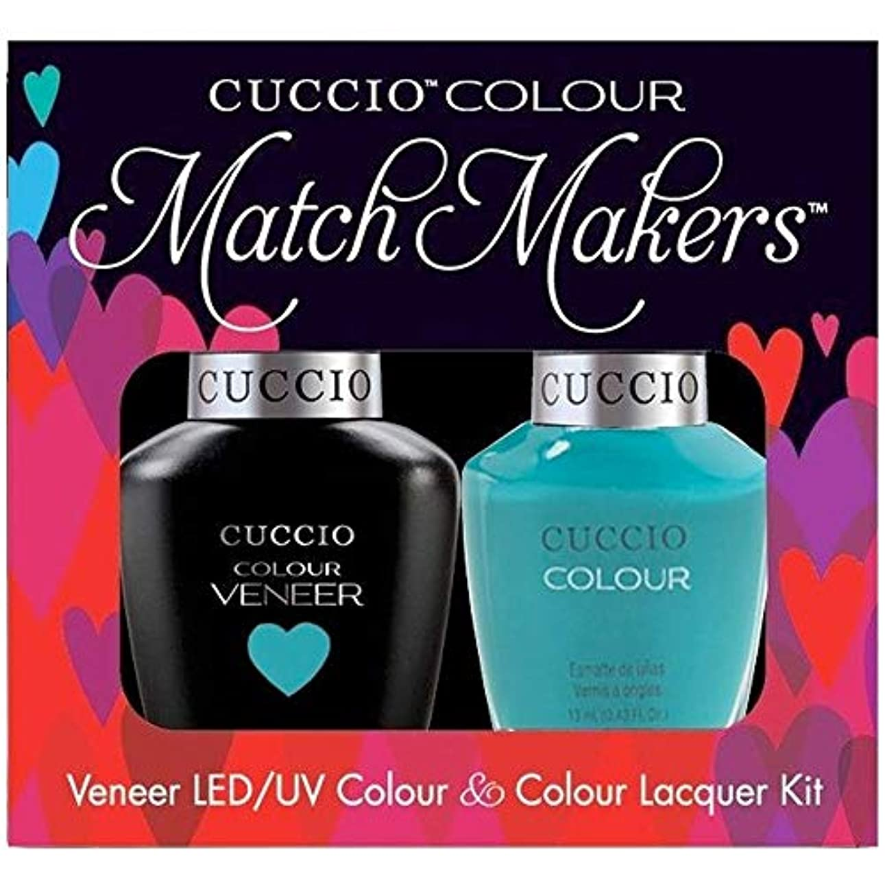 下着ボーダーレトルトCuccio MatchMakers Veneer & Lacquer - Muscle Beach - 0.43oz / 13ml Each