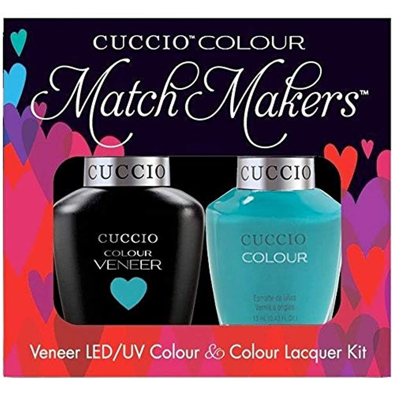 不条理認知ムスタチオCuccio MatchMakers Veneer & Lacquer - Muscle Beach - 0.43oz / 13ml Each