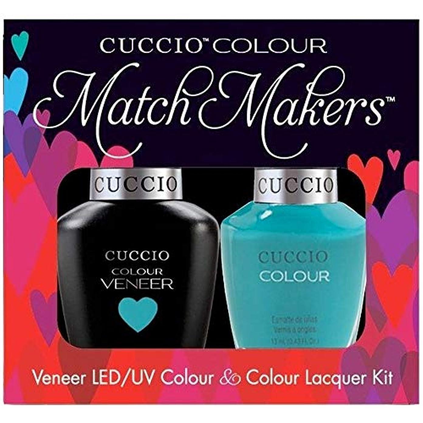 忌まわしい検出ちっちゃいCuccio MatchMakers Veneer & Lacquer - Muscle Beach - 0.43oz / 13ml Each
